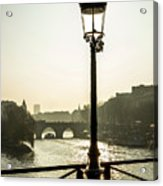 Bridge Over The Seine. Paris. France. Europe. Acrylic Print