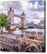 Bridge Over The Thames Acrylic Print