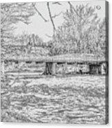 Bridge Over The Vermilion Acrylic Print