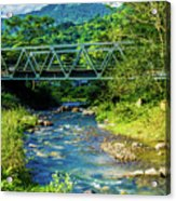 Bridge Over Tropical Dreams Acrylic Print