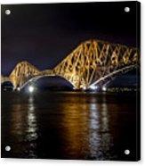 Bridge Over Water Lights. Acrylic Print