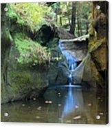 Bridge Over Waterfall Acrylic Print