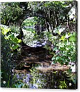 Bridge Reflection At Blarney Caste Ireland Acrylic Print