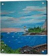Bridge Scene Acrylic Print
