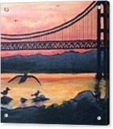 Bridge Silhouette  Acrylic Print