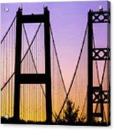 Bridge Sunset Acrylic Print