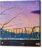 Bridge Sunset Acrylic Print