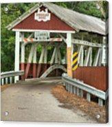 Bridge Through The Somerset Forest Acrylic Print