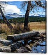 Bridge To Long's Peak Acrylic Print
