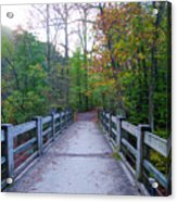 Bridge To Paradise - Wissahickon Valley Acrylic Print