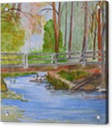 Bridge To Serenity   Smithgall Woods State Park Acrylic Print