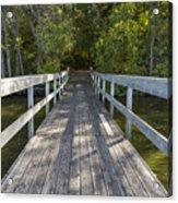 Bridge To Woods 1 Acrylic Print
