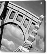 Bridge Top Pittsburgh Pa Acrylic Print by Kristen Vota