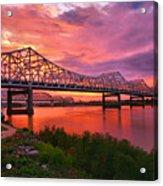 Bridges At Sunrise II Acrylic Print
