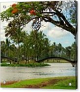 Bridges At Wailoa Acrylic Print