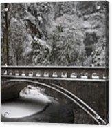 Bridges Of Multnomah Falls Acrylic Print