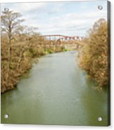 Bridges Over The Guadalupe Acrylic Print