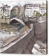 Bridging The Seine Acrylic Print