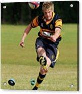 Bridlington Rufc Under 17's V Roundhegians Rufc Under 17's Acrylic Print by David  Hollingworth