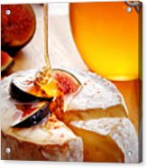 Brie Cheese With Figs And Honey Acrylic Print