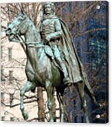 Brigadier General Casimir Pulaski Saved George Washington's Life Acrylic Print