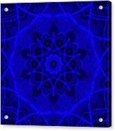 Brigadoon No. 1 Neon Blue Acrylic Print