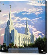 Brigham City Utah Temple Acrylic Print