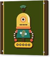 Bright And Colorful Robot Toy Acrylic Print