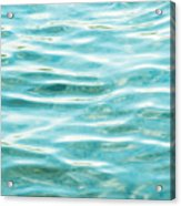 Bright Aqua Water Ripples Acrylic Print