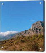 Bright Autumn Panorama Demerji Crimea Peninsula Acrylic Print