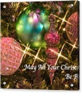 Bright Christmas Card Acrylic Print