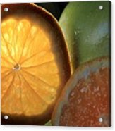 Bright Clementine  Acrylic Print