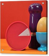 Bright Colorful Breakfast Trio Acrylic Print