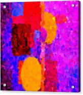 Bright Colours Abstract Acrylic Print