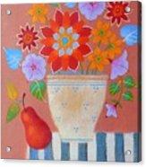 Bright Dahlias Acrylic Print