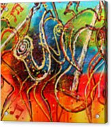 Bright Jazz Acrylic Print