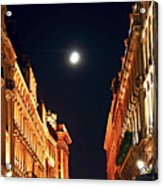 Bright Moon In Paris Acrylic Print by Elena Elisseeva