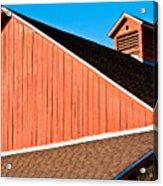Bright Red Barn Acrylic Print