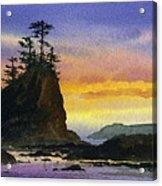Bright Seacoast Sunset Acrylic Print