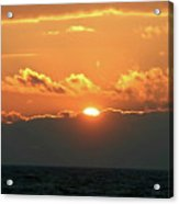 Bright Sunset Over Lake Michigan Acrylic Print