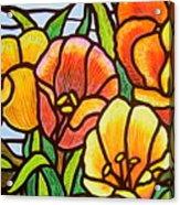 Bright Tulips Acrylic Print