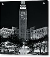 Bright White Lights At Night Acrylic Print