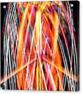Brightly Colored Abstract Light Painting At Night From The Fireb Acrylic Print