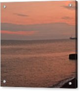 Brighton 2014 Sunset Looking From The Marina West Acrylic Print