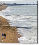Brighton Shore Acrylic Print