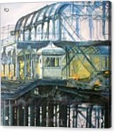 Brighton's West Pier-lone Survivor Acrylic Print