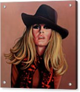 Brigitte Bardot Painting 1 Acrylic Print