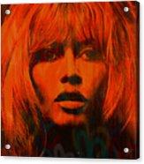 Brigitte Bardot Love Pop Art Acrylic Print