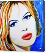 Brigitte Bardot Pop Art Portrait Acrylic Print