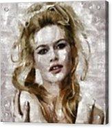 Brigitte Bardot, Vintage Actress Acrylic Print